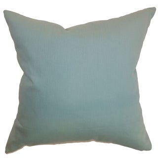 Resolute Aquamarine Solid 18-inch Down Filled Throw Pillow