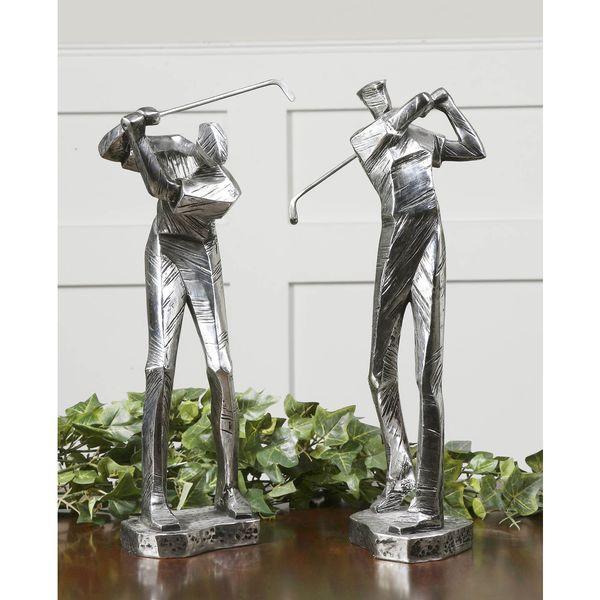 Uttermost Metallic Silvertone Practice Shot Figurines (Set of 2) 13061734