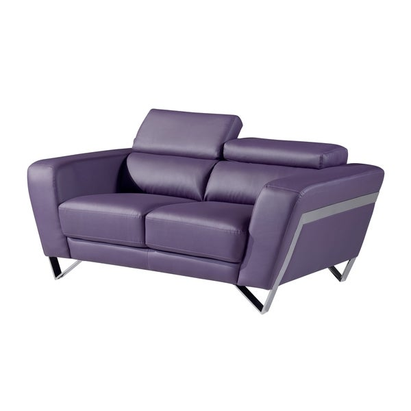 Natalie Purple Bonded Leather Loveseat 16280343 Shopping Great Deals On