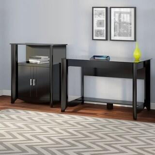Aero Writing Desk/ 2-Door Medium Storage Set