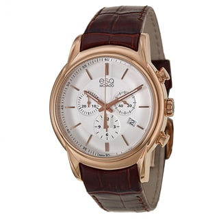 ESQ Men's 'Quest' Rose Gold-plated Stainless Steel Chronograph Watch