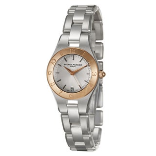 Baume and Mercier Women's MOA10014 'Linea' 18K Rose Gold Swiss Quartz Watch