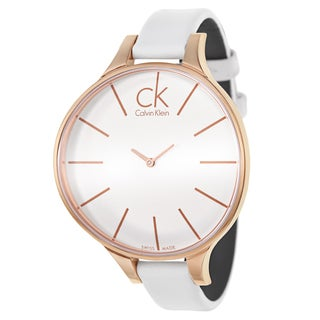 Calvin Klein Women's K2B23601 'Glow' Rose Gold PVD Stainless Steel Swiss Quartz Watch