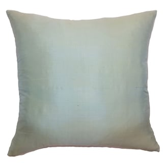 Constance Seafoam Solid 18-inch Feather and Down Filled Throw Pillow