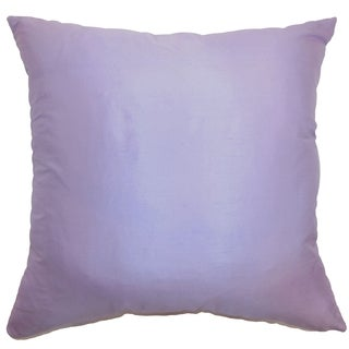 Desdemona Lavender Solid 18-inch Feather and Down Filled Throw Pillow