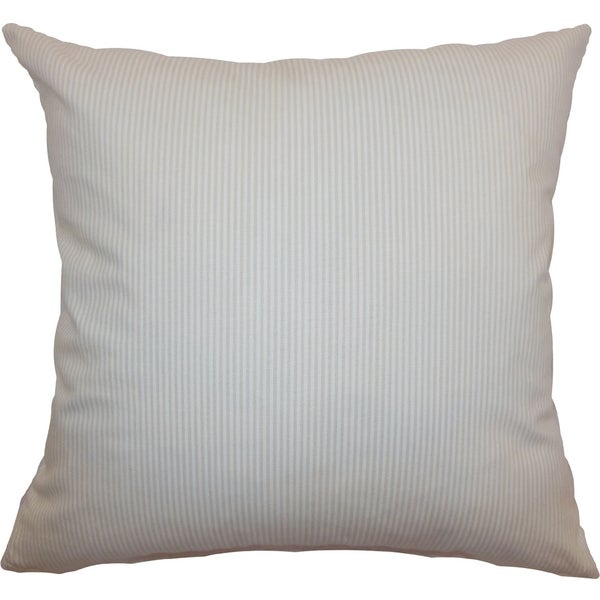 Quenilda Tan Ticking Feature Filled Throw Pillow