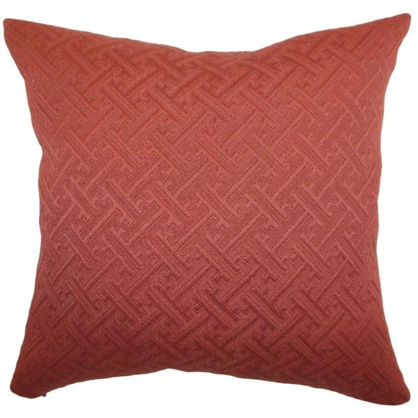Laesta Rust Greek Key Feature Filled Throw Pillow