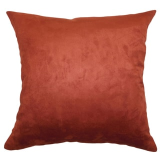 Fabrizia Solid Rust 18-inch FEather and Down Filled Throw Pillow