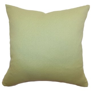 Xana Sprout Green Solid 18-inch Down Filled Throw Pillow