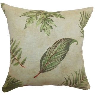 Barsia Palm Leaf 18-inch Down Filled Throw Pillow