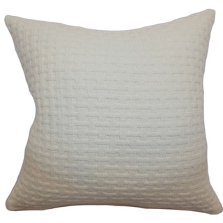 Nevis Creme Solid 18-inch Down Filled Throw Pillow