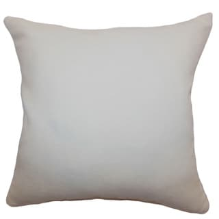 Portia Creme Solid 18-inch Down Filled Throw Pillow