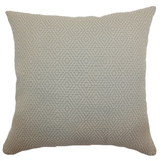 Gertrude Taupe Diamond 18-inch Down Filled Throw Pillow
