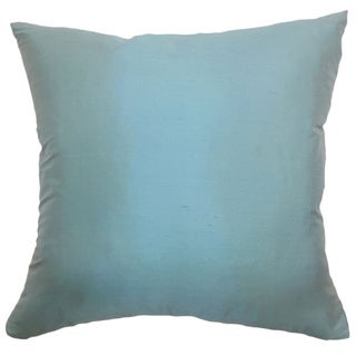 Agnieska Turquoise Solid 18-inch Down Filled Throw Pillow