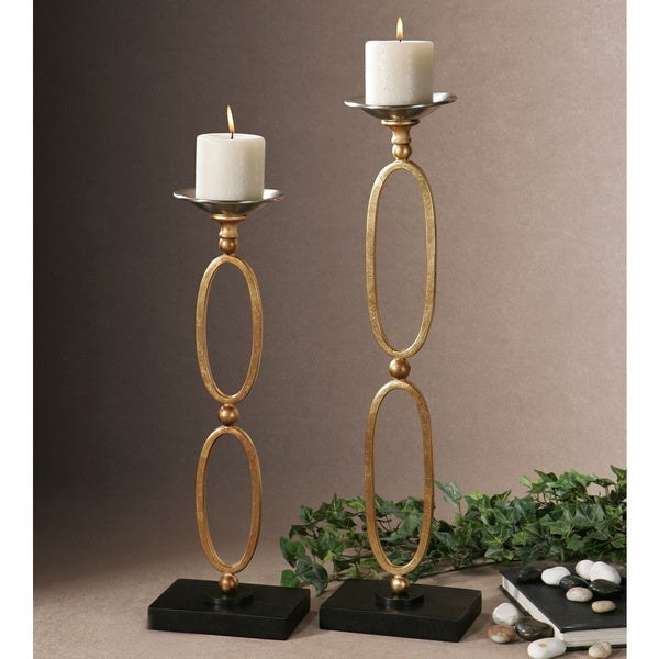 Uttermost Lauria Chain Link Candleholders (Set of 2) 13061955