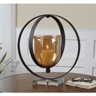 Charon Rust Bronze Candle Holder