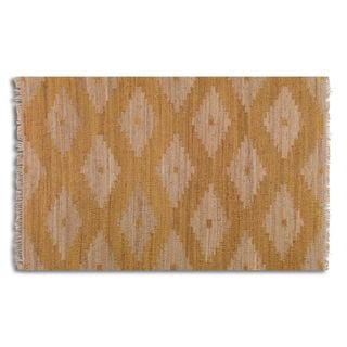 Asmae Orange Hemp Rug (8' x 10')
