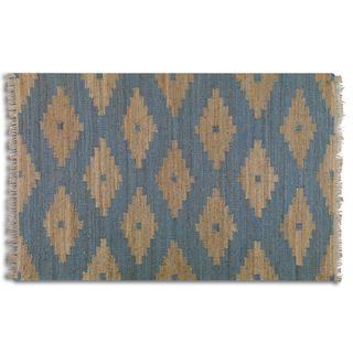 Uttermost Asmae Blue Hemp Rug (5' x 8')