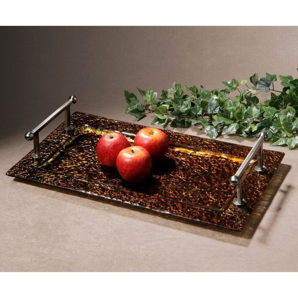 Uttermost Elektra Glass Tray