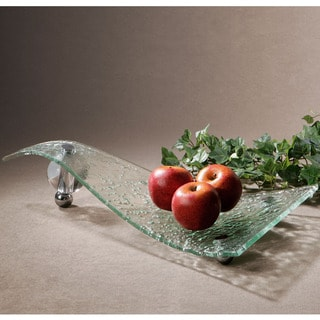 Zorb Textured Glass Tray