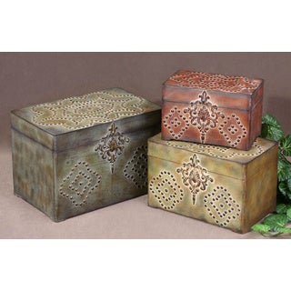 Uttermost Hobnail 3-piece Decorative Box Set
