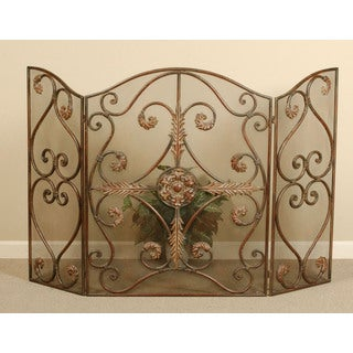 Iron Jerrica Hand-forged Metal Fireplace Screen