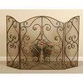 Uttermost Iron Jerrica Hand-forged Metal Fireplace Screen