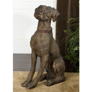 Large Rusted Dog Statue