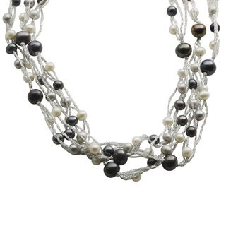 Pearls For You 65-inch Multi-colored Freshwater Pearl Necklace (5-10 mm)