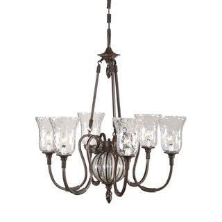 Uttermost Galeana 6-light Metal and Glass Chandelier