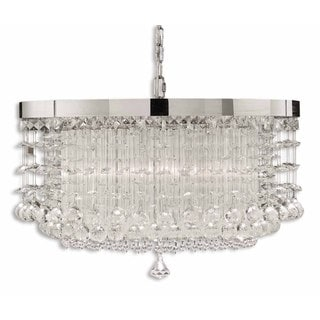 Fascination 3-light Metal Glass Crystal Lighting Fixture Chandelier