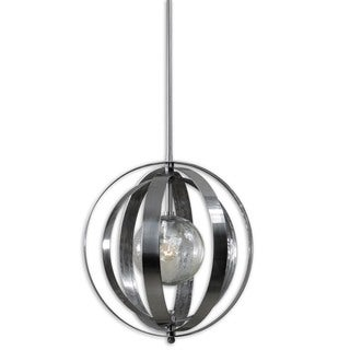 Trofarello Silver 1-light Metal Glass Lighting Fixture Pendant