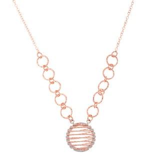La Preciosa Rose Goldplated Sterling Silver Circle Necklace