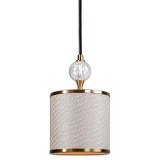 Dueville 1-light Metal Glass Fabric Mini Pendant