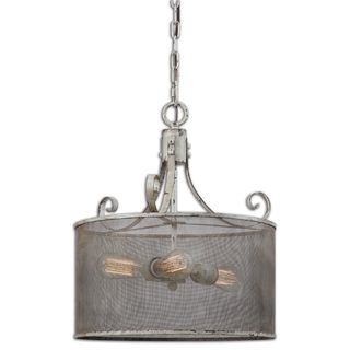 Pontoise 3-light Antique Ivory Metal Pendant