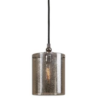 Mariano 1-light Mercury Glass/ Polished Nickel Mini Pendant