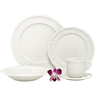 Melange Nouveau Classic Fine White Porcelain Dinnerware Set