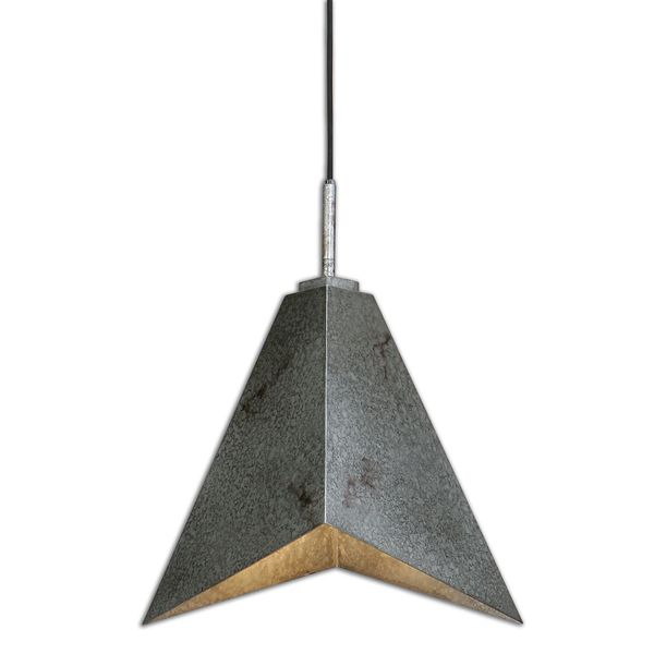 Uttermost Flint 1-light Rust Silver Pendant