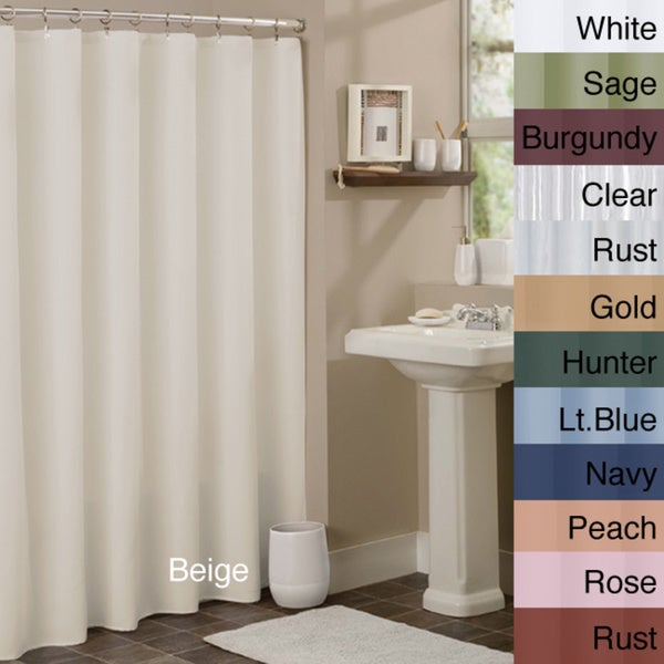 Anti-mildew Vinyl Shower Curtain Liner - 16280670 - Overstock.com ...