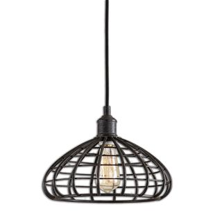 Espalier 1-light Black Rust Pendant