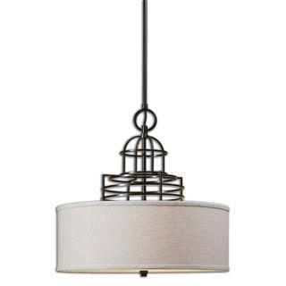 Uttermost Cupola 3-light Weathered Bronze Pendant