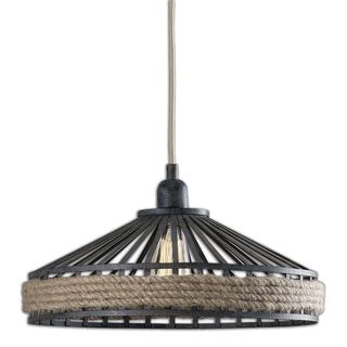 Corda 1-light Black Rust Pendant