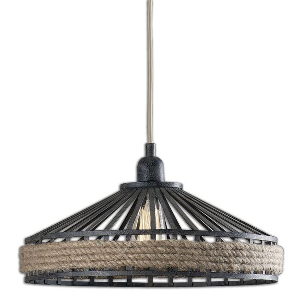 Uttermost Corda 1-light Black Rust Pendant