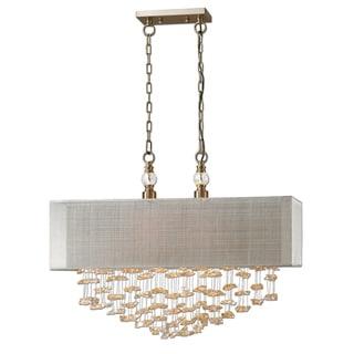 Santina 2-light Antiqued Brushed Brass Pendant