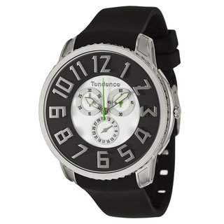 Tendence Men's TE161002 'Gulliver Slim' Black and White Chronograph Watch