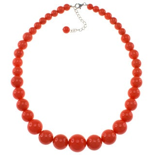 Pearlz Ocean Bright Coral Shell Journey Necklace