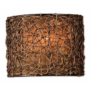 Uttermost Knotted Rattan 1-light Espresso Wall Sconce