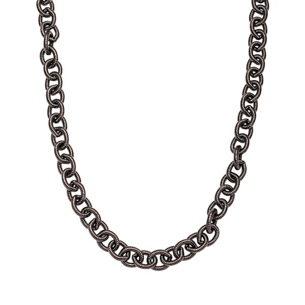 Gunmetal Tribeca Necklace