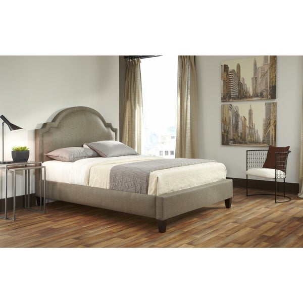 Fashion Home Westiminster King-size Scalloped Upholestered Complete Bed