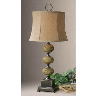 Uttermost Porano Distressed Green Stacked Spheres Table Lamp